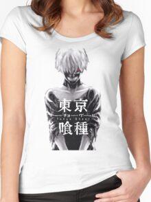 TOKYO GHOUL - KEN KANEKI Women's Fitted Scoop T-Shirt