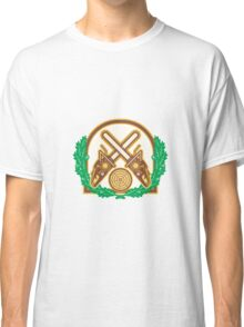 Crossed Chainsaw Timber Wood Leaf Classic T-Shirt