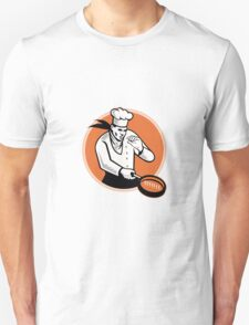 Chef Cook Cooking Pan Circle Unisex T-Shirt