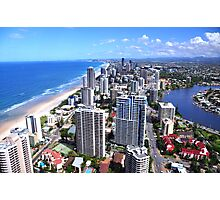 Gold Coast view from Q1 Tower Photographic Print