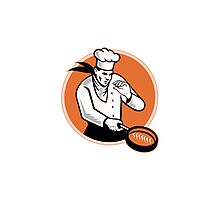 Chef Cook Cooking Pan Circle Photographic Print