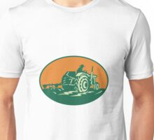 Farmer Worker Driving Farm Tractor Unisex T-Shirt