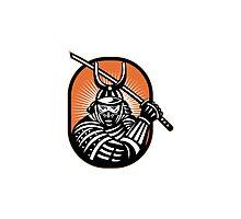 Japanese Samurai Warrior Sword Retro Photographic Print