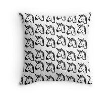 Sketch Emojis - Unicorn Throw Pillow