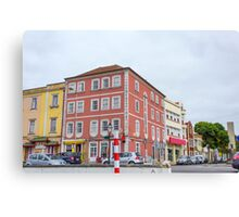 The pink building Canvas Print