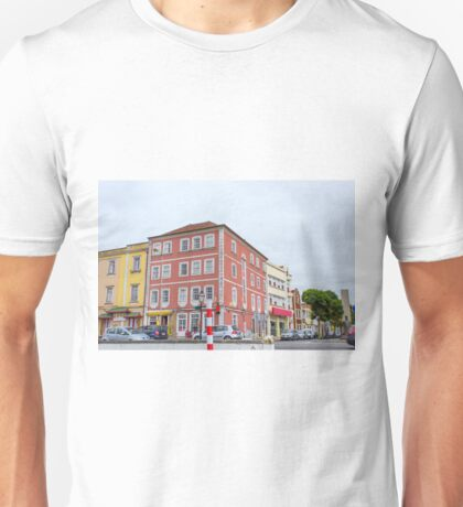 The pink building Unisex T-Shirt
