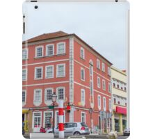 The pink building iPad Case/Skin
