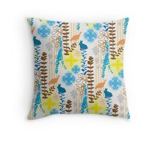 Garden Rabbit Fowl: 1 of 3 Throw Pillow
