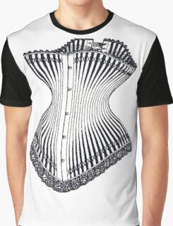 Hourglass Corset Illustration 1878 Graphic T-Shirt