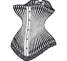 Hourglass Corset Illustration 1878 Photographic Print