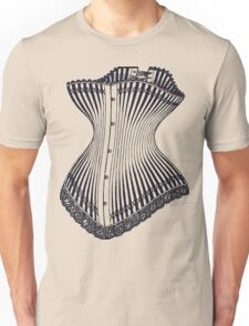Hourglass Corset Illustration 1878 Unisex T-Shirt