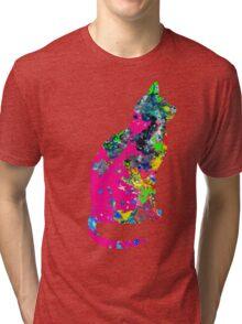 Ink Spots Cat Tri-blend T-Shirt