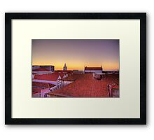 Sunset in Aveiro - HDR Framed Print