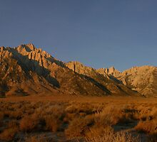 Lone Pine Peak and Mt Whitney by Paul Simonson