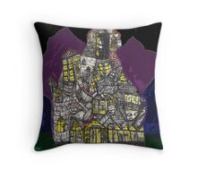 Haunted House Hill Throw Pillow