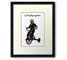 Let's Play A Game - Say my Name Framed Print