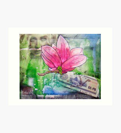Magnolia Money Art Print