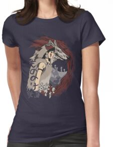 Keepers of the forest mononoke Womens Fitted T-Shirt