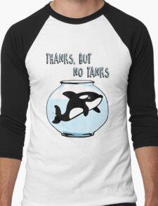 Thanks But No Tanks - Orcas Men's Baseball ¾ T-Shirt