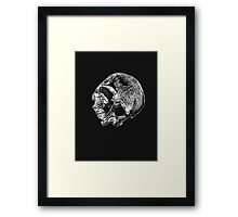 Human Skull Vintage Illustration Framed Print