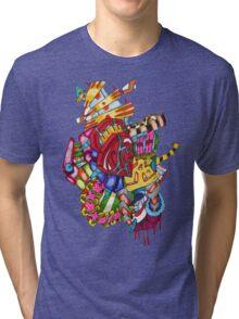 flying castle  Tri-blend T-Shirt