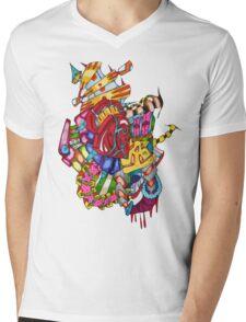 flying castle  Mens V-Neck T-Shirt
