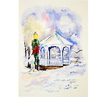 Christmas Gazebo Snow Scene Photographic Print