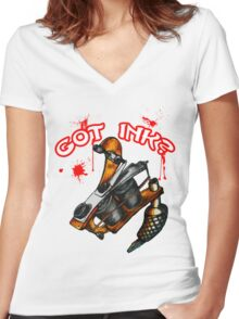 Got Ink? Women's Fitted V-Neck T-Shirt