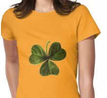 Shamrock Isolated on White Womens Fitted T-Shirt