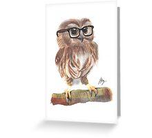 """Clark """"Owl"""" Kent Greeting Card"""