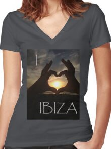 I Heart Ibiza Women's Fitted V-Neck T-Shirt