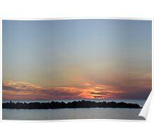 Erie Sunset Poster
