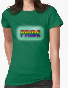 PRIDE Rainbow - Green Womens Fitted T-Shirt
