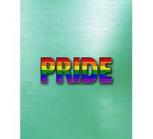 PRIDE Rainbow - Green Photographic Print