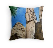 Karnak Temple Egypt Throw Pillow
