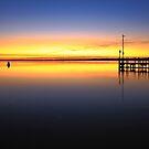 sunrise, inverloch jetty. coastal victoria by tim buckley | bodhiimages