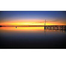 sunrise, inverloch jetty. coastal victoria Photographic Print