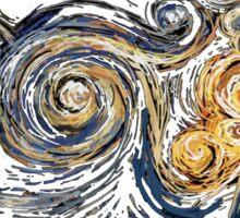 Van Gogh TARDIS Sticker