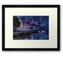 Night Storm - The City of  Cork, Ireland Framed Print