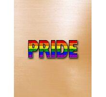 Rainbow PRIDE - Orange Photographic Print