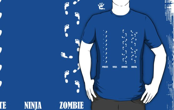 What is your foot print like? A Pirate, a Ninja, a Zombie or Drunk? by DesignGuru