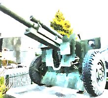 The Howitzer 105mm field gun carriage by PictureNZ