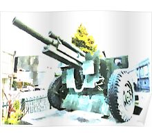 The Howitzer 105mm field gun carriage Poster