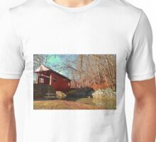 Fall Covered Bridge Unisex T-Shirt