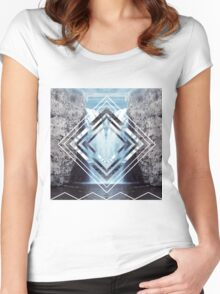 Waterfall Polyscape Women's Fitted Scoop T-Shirt