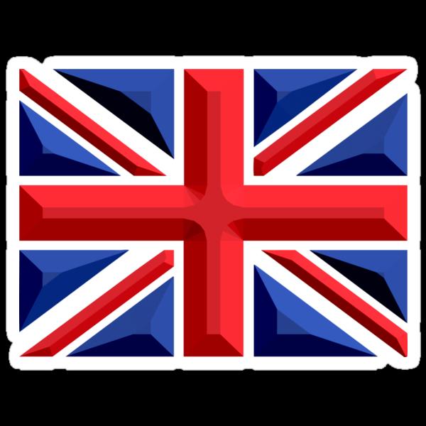 British, Union Jack, Chisel Hard, UK, GB, United Kingdom, Flag, Blighty by TOM HILL - Designer