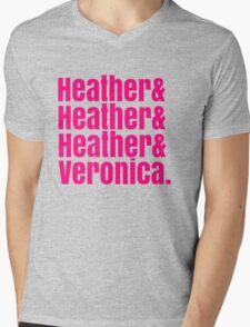 Heathers Hot Pink Design Mens V-Neck T-Shirt