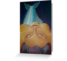 Sea Goddess Mermaid Relaxing Greeting Card