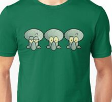Three Times Squidward - Spongebob Unisex T-Shirt
