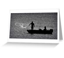Fishing with Mr Hitchcock Greeting Card